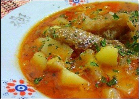 Рисовый суп с томатом