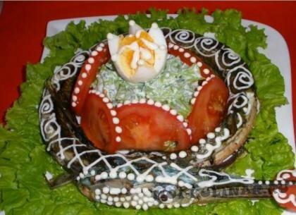 Пошаговый фото рецепт Украшение фаршированной рыбы
