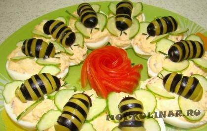 Пошаговый фото рецепт Фаршированные яйца