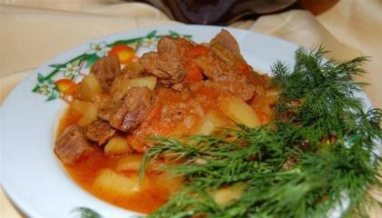 Пошаговый фото рецепт Жаркое из говядины