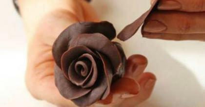 Пошаговый фото рецепт Шоколадные розы