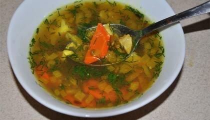 Пошаговый фото рецепт Суп с чечевицей и курицей