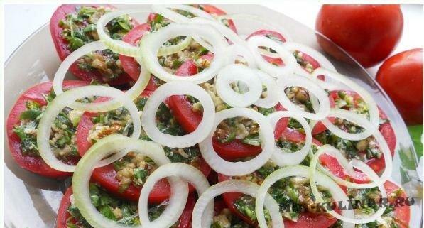 Закуска из помидоров по-тбилисски с фото