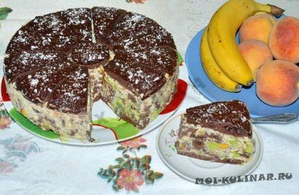 Торт Африканская ромашка с фруктами