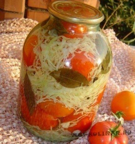 Консервируем помидоры с капустой на зиму