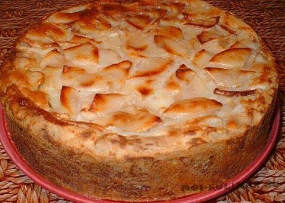 Пирог Вверх дном с яблоками