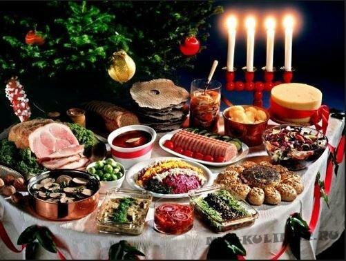 Новогодний стол из 12 блюд