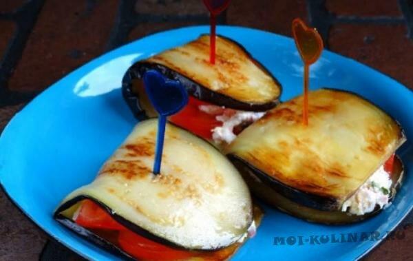 Закуска из баклажанов и крабовых палочек
